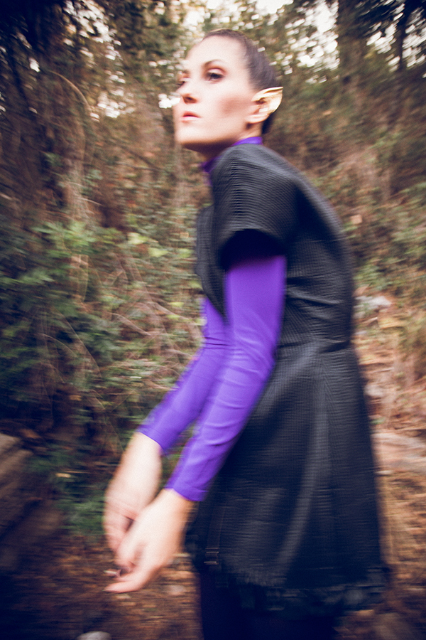 camicia in seta viola macramè italia