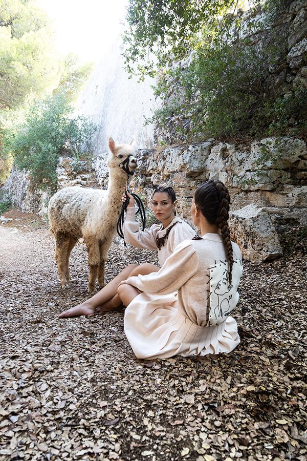 maglione alpaca macramè